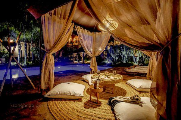 Hôtel ksar Ighnda en soirée