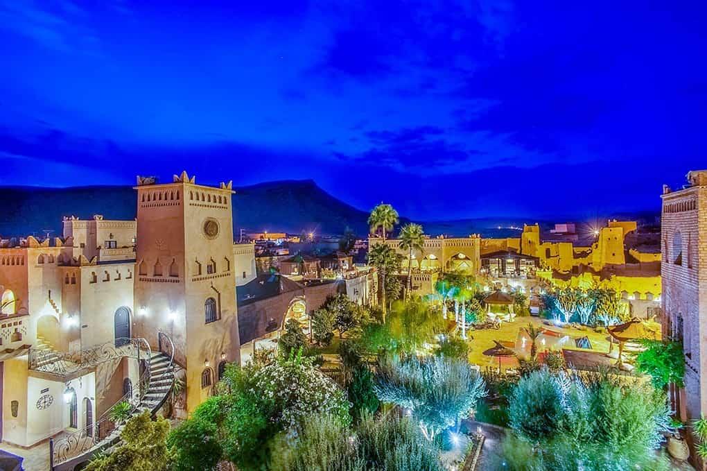 Jardin nuit - ksar ighnda Ouarzazate